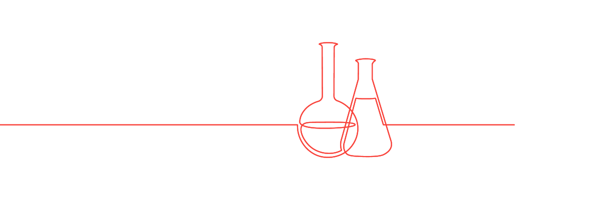 line art of lab equipment
